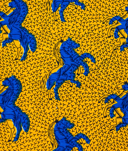 Classic Yellow And Blue Horse Print Ankara It S Made To Order